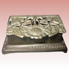 Art Nouveau Bronze Stamp Box