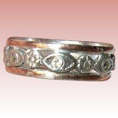 Vintage Ring Sterling Vermeil Marcasite