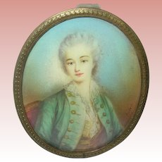 18th Century Miniature Portrait Madame Du Barry