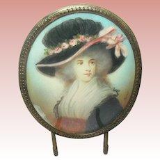 18th Century Miniature Portrait Painting