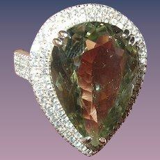 Vintage Ring Sterling Tanzanite