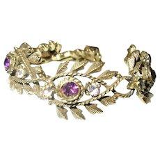 Vintage Bracelet by Coro Faux Amethysts