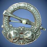 Edwardian Sterling Scottish Kilt Brooch