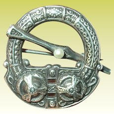 Edwardian Sterling Scottish Kilt Brooch