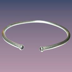 Vintage Cuff Bracelet Garnet Tips