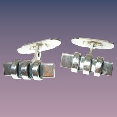 Vintage Sterling Cuff Links Denmark Modernist By Eiler & Marloe