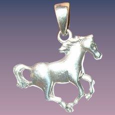 Vintage Sterling Horse Pendant