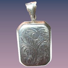 Vintage Sterling Pendant Locket Chased