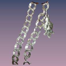 Vintage Sterling Link Bracelet Charm