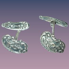 Sterling Cuff Links Repousse