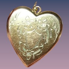 Vintage Heart Locket Pendant