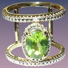 Vintage Ring Sterling Vermeil Tanzanite