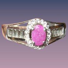 Vintage Ring Sterling Ruby