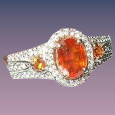 Vintage Ring Sterling Vermeil Natural Stones