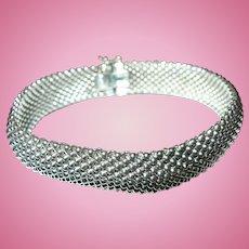 Vintage Bracelet Sterling Mesh