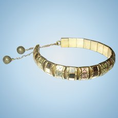 Victorian Gold Filled Bracelet Two Tone