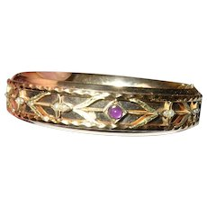 Edwardian Gold Filled Hinged Bangle
