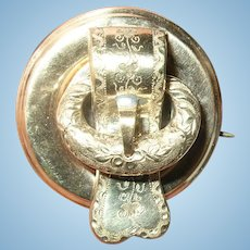 Victorian Brooch Locket Belt Buckle