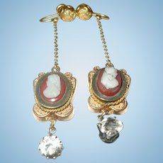 Victorian 10k Drop Earrings 1860's