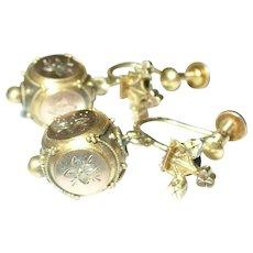 Victorian Drop Earrings Gold Fill