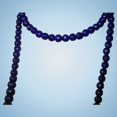 Vintage African Trading Bead Necklace Blue