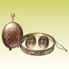 Vintage Whiting David Bracelet Earring Set