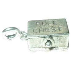 Vintage Sterling Charm Hope Chest