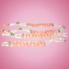 Vintage 14K Coral Bead Necklace