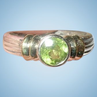 Vintage Ring Sterling Tourmaline