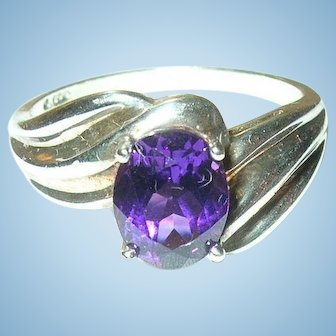 Vintage Sterling Amethyst Ring