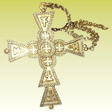 Vintage Cross Pendant Necklace by ART