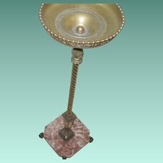 Vintage Champagne Stand Brass Marble