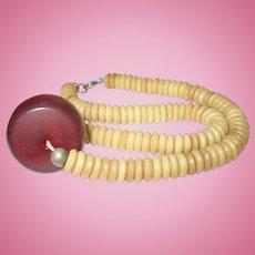 Vintage Cherry Bakelite Necklace