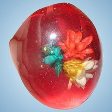 Vintage Lucite Ring Flowers