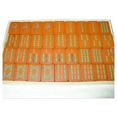 Rare Vintage Red Bakelite Mah Jongg Set