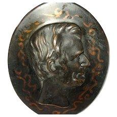 Antique Bronze Plaque Abraham Lincoln