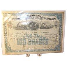 Vintage Railroad Stock Bond 1929