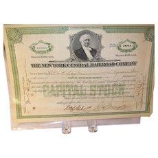Vintage Railroad Stock Bond 1928