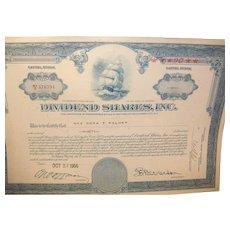 Vintage Dividend Shares Inc. Bond 1956