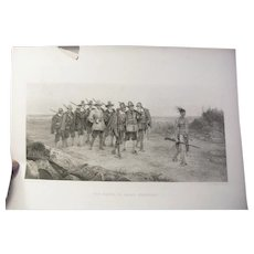 """Antique Steel Engraving """"The March Of Miles Standish"""" by G. C. Finden"""