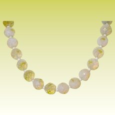 Vintage Necklace Opaque Faceted Beads