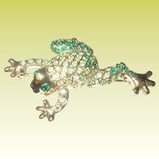 Vintage Frog Brooch by Monet
