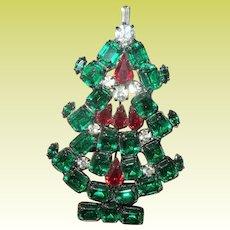 Vintage Lg Brooch Christmas Tree by R.R.