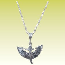Vintage Sterling Necklace Egyptian Revival