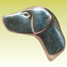 Vintage Sterling Dog Brooch