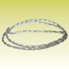 Vintage Link Necklace Sterling Twist Design