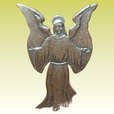 Vintage Sterling Brooch Angel