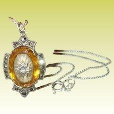 Vintage Sterling Necklace Pendant