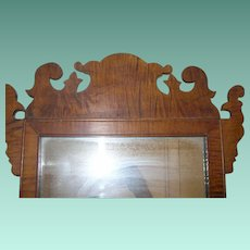 Antique Tiger Maple Mirror 1820's