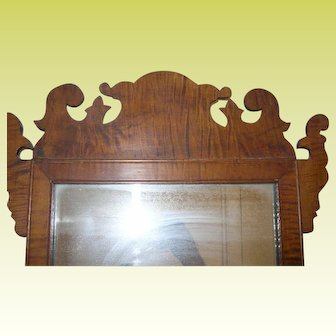 Antique Tiger Maple Mirror 1820's